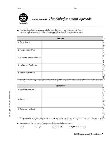 Worksheets Enlightenment Worksheet enlightenment worksheet cryptogram puzzle teacherlingo com