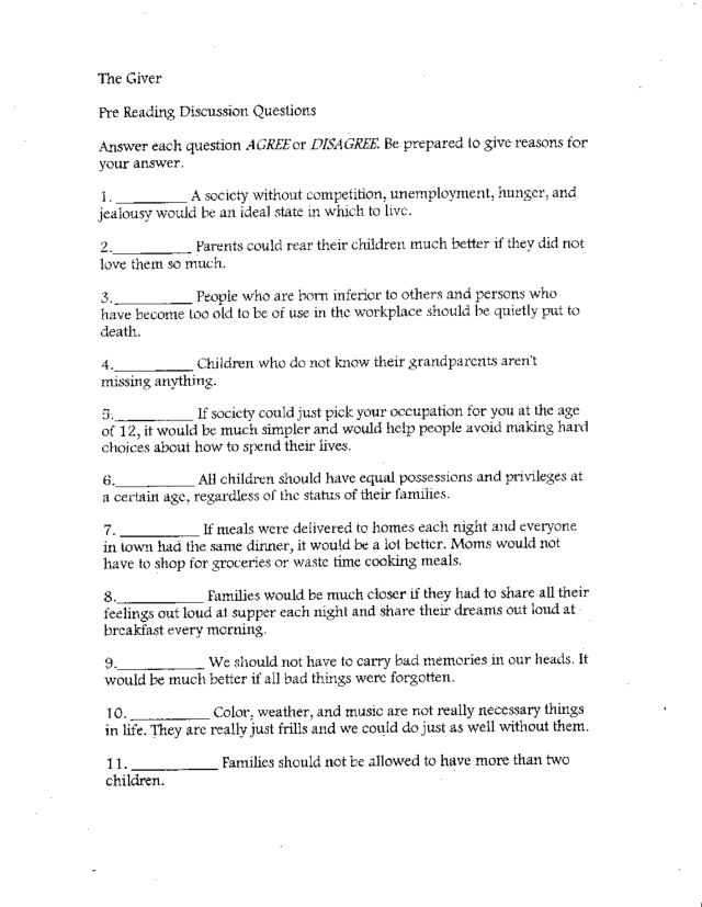 book study questions for the giver sample of apa reference page book study questions for the giver