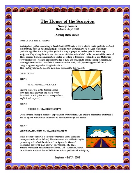 the house of the scorpion essay House of the scorpion this essay house of the scorpion and other 63,000+ term papers, college essay examples and free essays are available now on reviewessayscom.