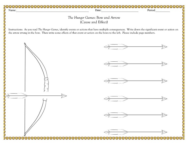 Printables Hunger Games Worksheets hunger games worksheets davezan the bow and arrow cause effect 7th 12th