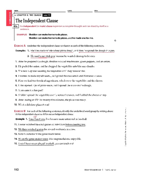5th Grade » Dependent And Independent Clauses Worksheets 5th Grade  Printable Worksheets Guide