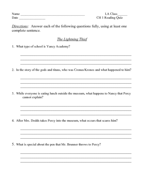 Pictures The Lightning Thief Worksheets - Studioxcess
