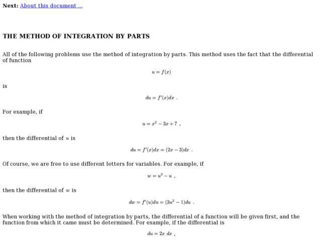 Collection Integration By Parts Worksheet Photos - Studioxcess