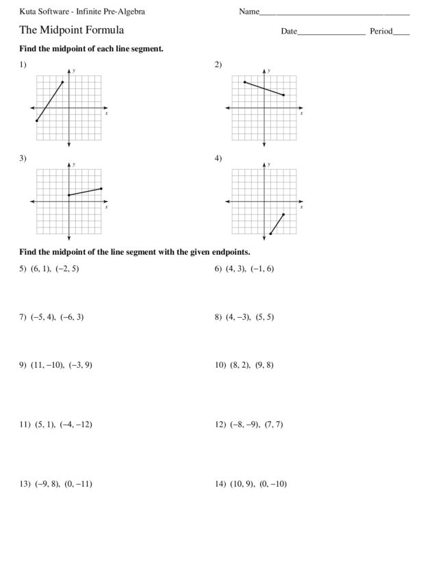 Midpoint Formula Worksheet: Geometry Distance And Midpoint Worksheet   Rringband,