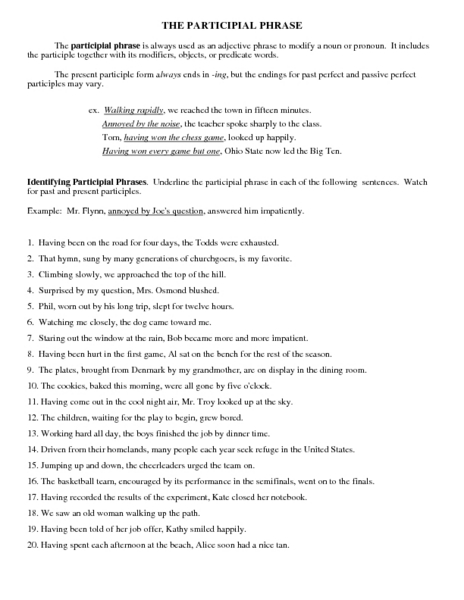 adjective phrases worksheet 7th grade adjective and adverbial phrases worksheets for kids. Black Bedroom Furniture Sets. Home Design Ideas
