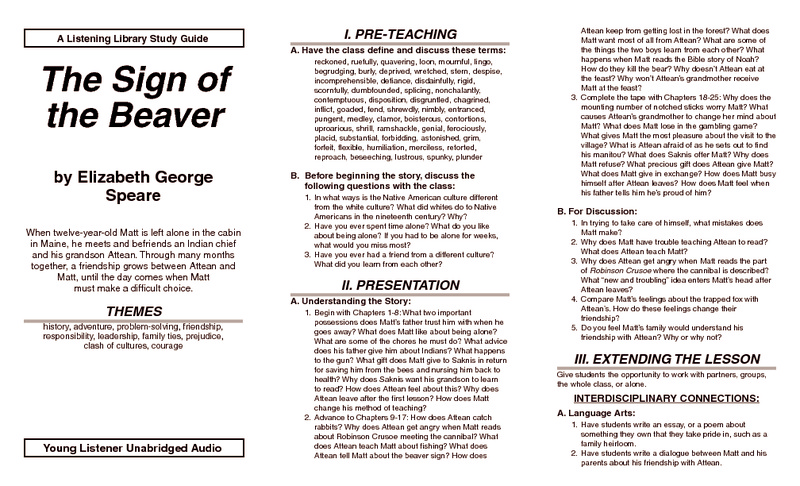 {Sign Of The Beaver Worksheets Free Worksheets Library – Sign of the Beaver Worksheets