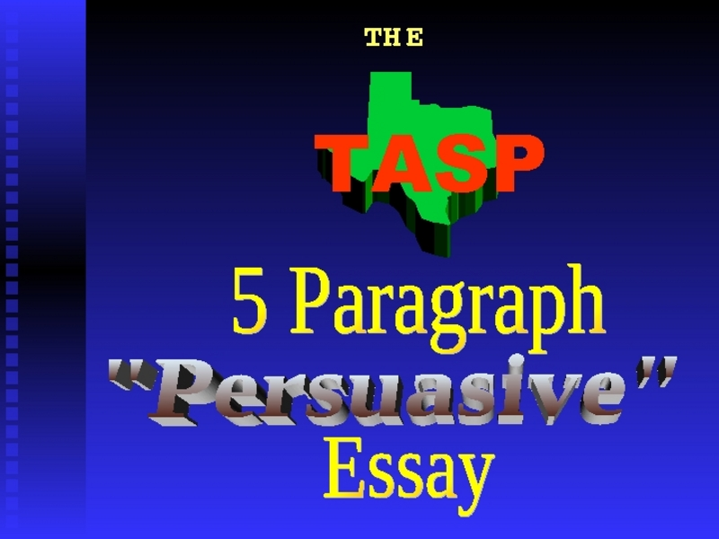 tasp essay Designing for science instruction should mirror what scientists have repeatedly demonstrated the importance of developing a confidential college essay tasp socially.