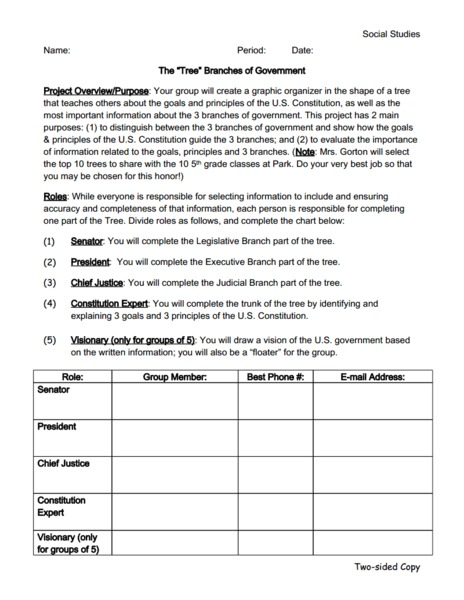 Worksheets Government Worksheet the tree branches of government 6th 12th grade worksheet lesson planet