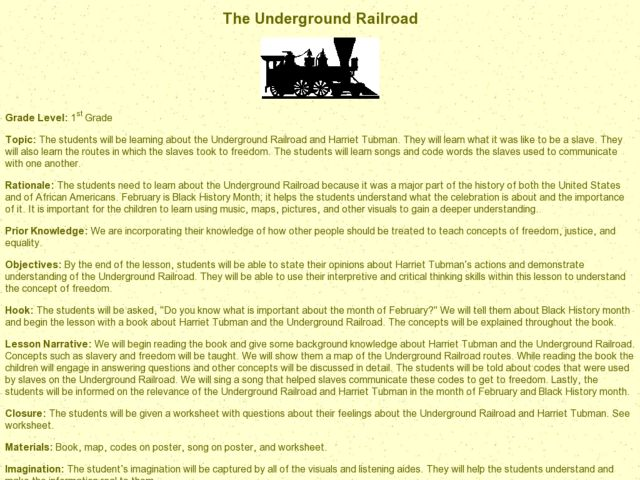 Underground Railroad Worksheet Worksheet – Underground Railroad Worksheet