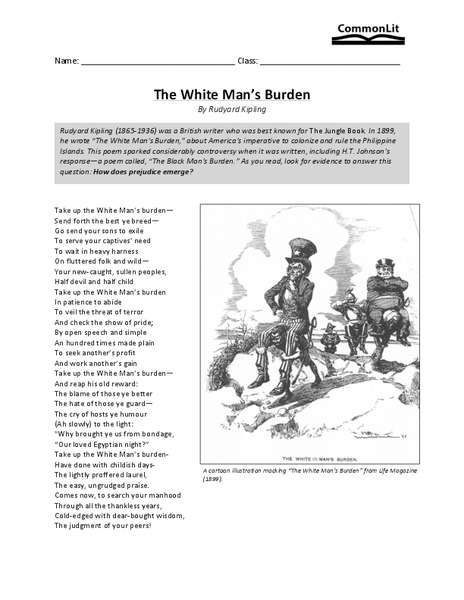 essay on old man burden in A description of an old man i'm writing this in a crisp, white hospital bed sign up to view the whole essay and download the pdf for anytime access on your.