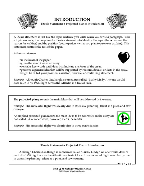 thesis statement middle school worksheet The thesis statement is what gives an essay direction knowing how to write a thesis statement — the topic, a claim about that topic, and three points to.