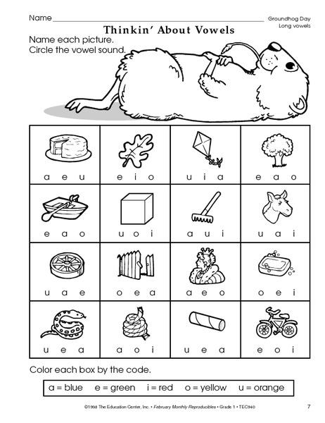 Free Worksheets » Kindergarten Vowel Worksheets - Free Printable ...