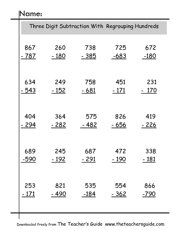 Subtraction With Regrouping Worksheets Free Worksheets Library – Subtracting with Regrouping Worksheet