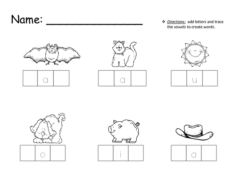 Number Names Worksheets free printable cvc worksheets Free – Kindergarten Cvc Worksheets