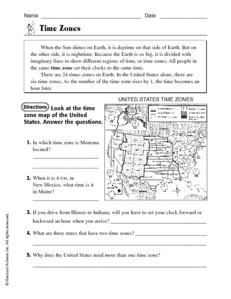Worksheets Time Zone Worksheets time zones worksheet english worksheets worksheets
