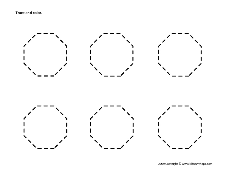 Trace+Octagon+Shape+Worksheets Collection Octagon Worksheet Pictures ...