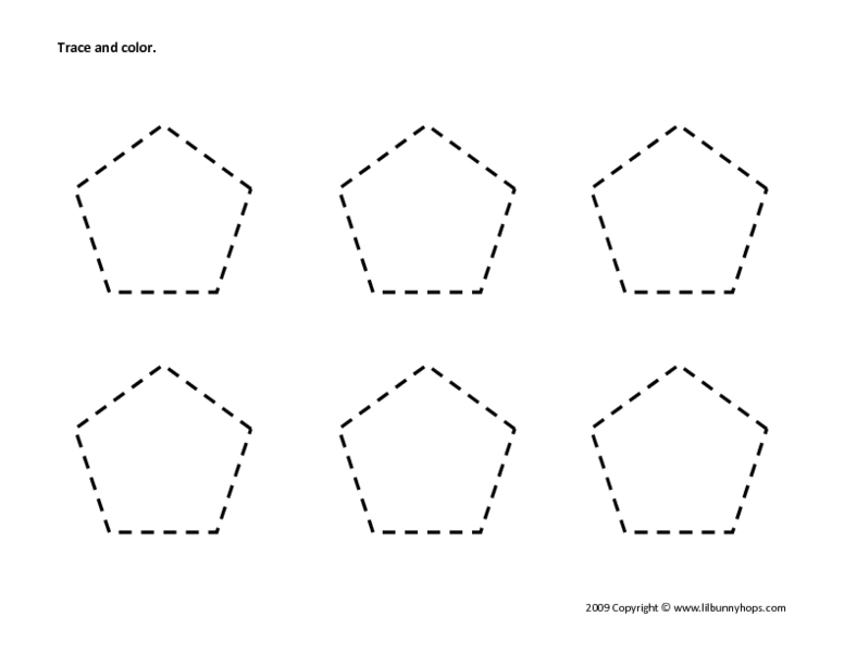 Common Worksheets » Shape Tracing Worksheets For Preschool ...
