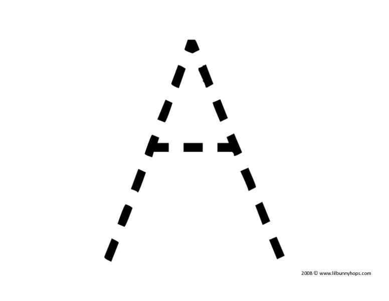 Number Names Worksheets uppercase letter tracing worksheets : Trace Uppercase Letter A Pre-K - 1st Grade Worksheet | Lesson Planet