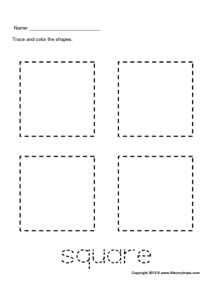 Printables Squares Worksheet tracing 4 squares 1st grade worksheet lesson planet