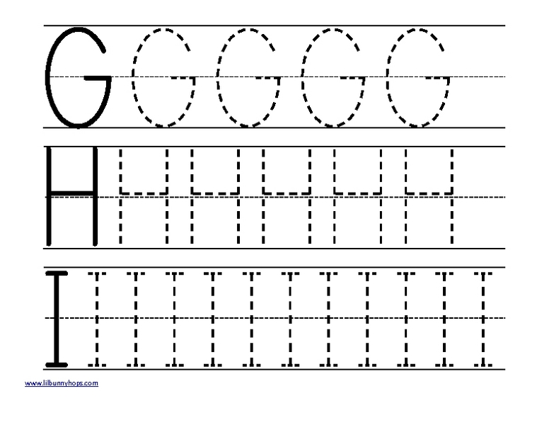 ... For Letter H - Free Printable Worksheets for Pre School Children