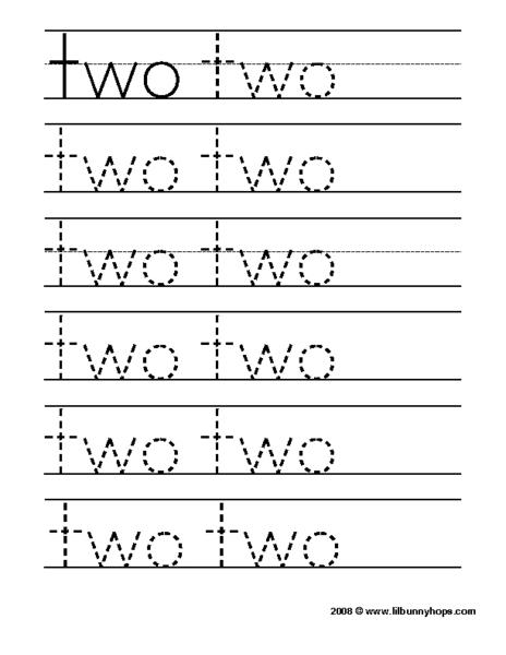Pre School Worksheets : number names tracing worksheets Number ...