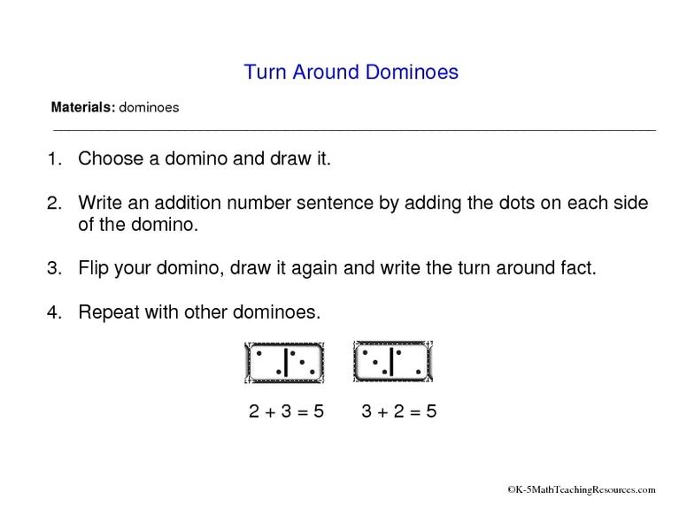 Addition Worksheets Dot Addition Worksheets Free Printable – Domino Addition Worksheet