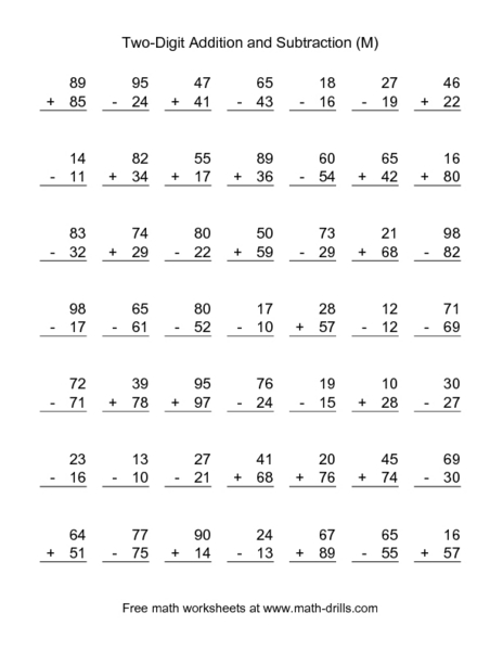 2nd grade subtraction worksheets