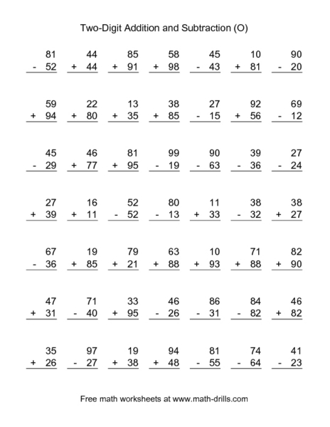 Number Names Worksheets adding two digit numbers with regrouping worksheets : addition and subtraction worksheets 3rd grade - Thousands of ...