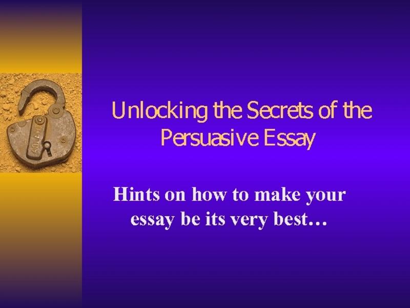persuasive essay lesson plans