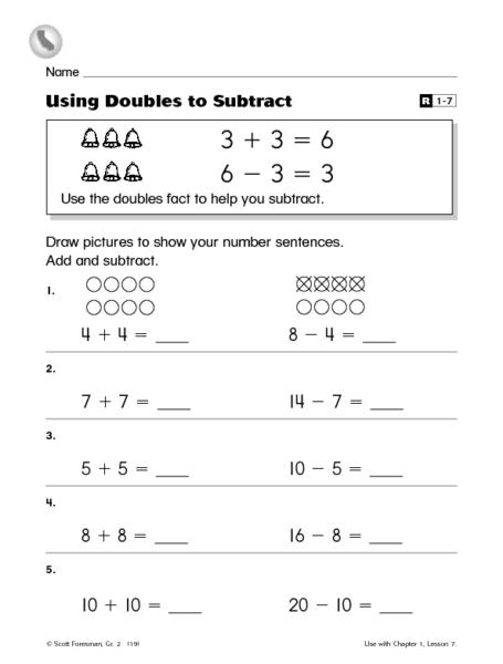 Doubles Additionrksheet Mathrksheets And Subtraction Adding Pdf ...