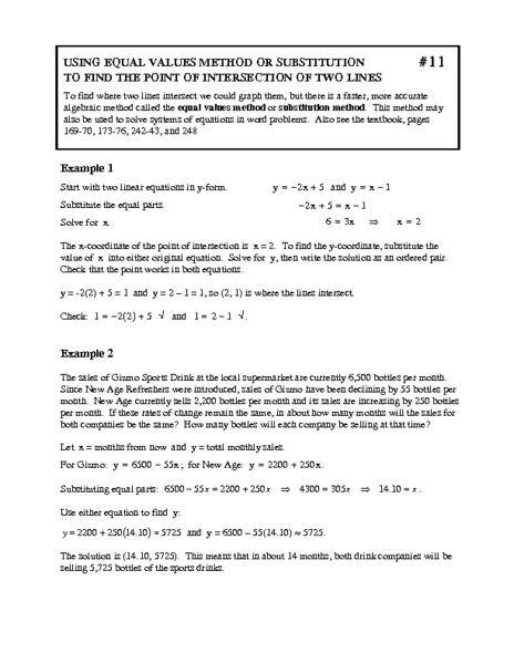 Math Worksheets supermarket math worksheets : Elimination Method Worksheet