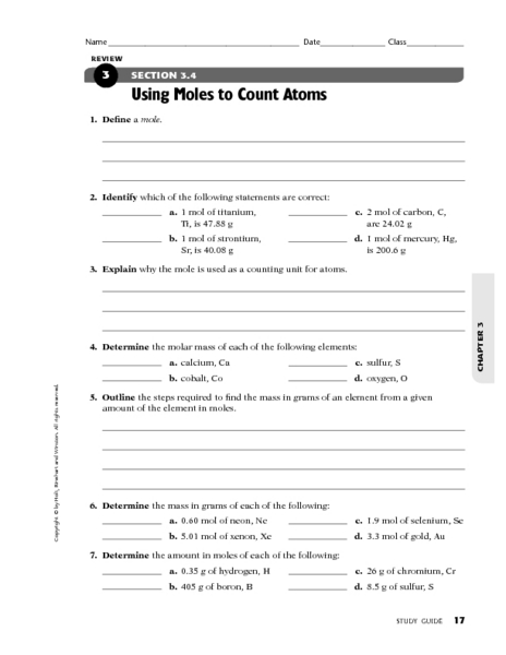 How To Count Atoms Worksheet - The Best and Most Comprehensive ...