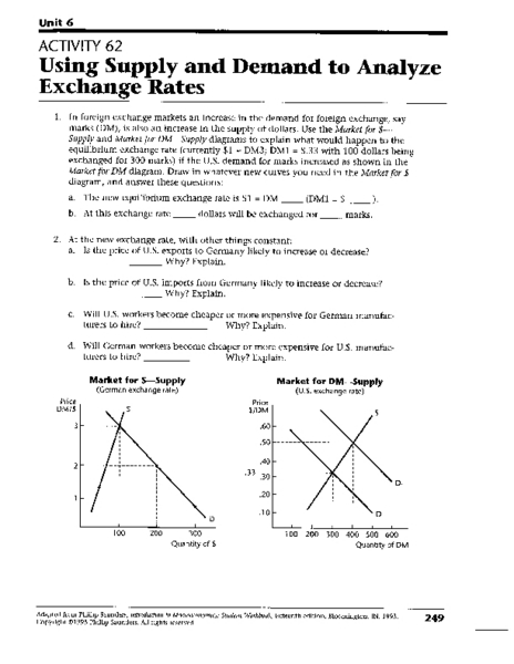 Collection of Supply And Demand Worksheets - Sharebrowse