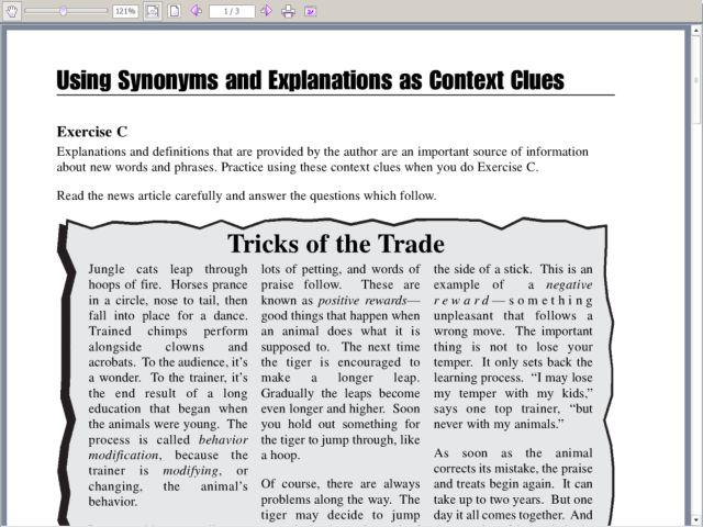 Context clues worksheets second grade