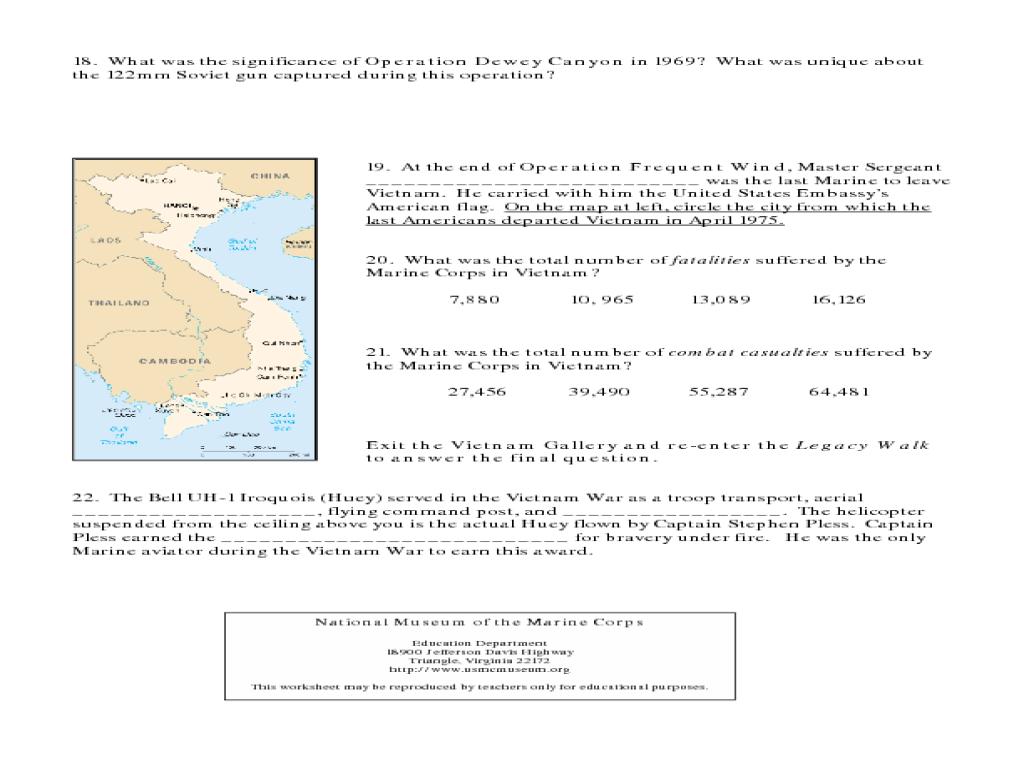 Vietnam War Worksheets Worksheets For School Beatlesblogcarnival – Vietnam War Worksheets