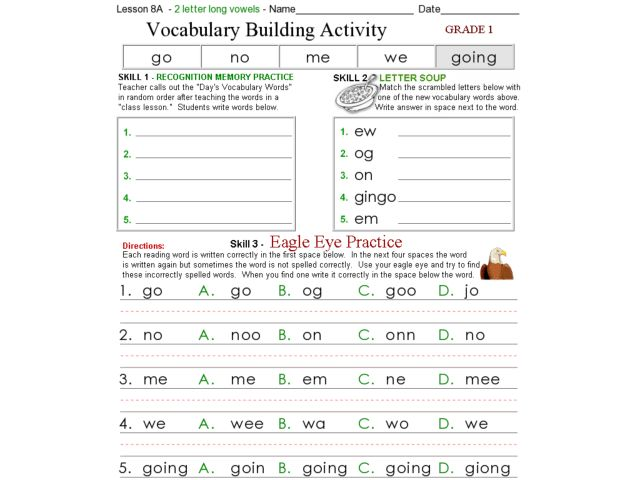 All Worksheets » Vocabulary Builder Worksheets - Printable ...