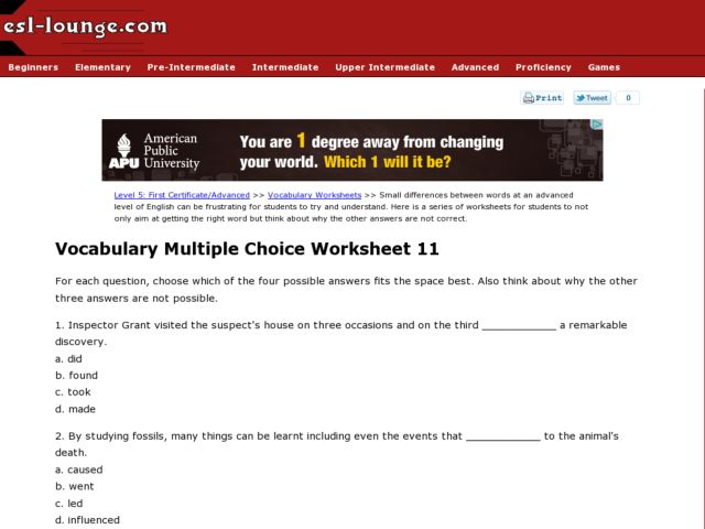 Multiple Choice Context Clues Worksheets & context clues worksheet ...
