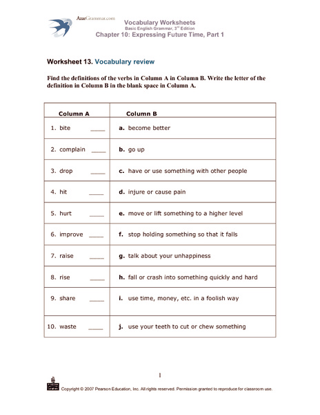 Basic English Worksheets : Counting number worksheets time vocabulary
