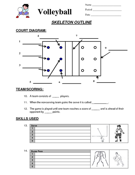 Printables Volleyball Worksheets volleyball worksheets for physical education davezan bloggakuten