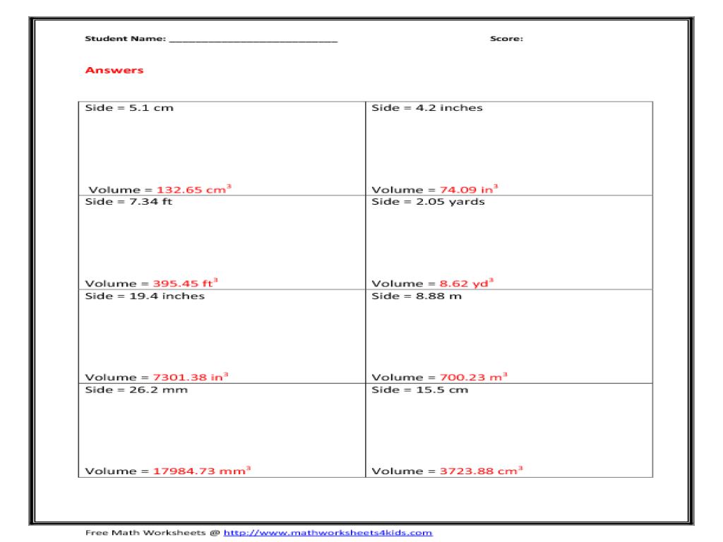Worksheets Volume Of Sphere Worksheet worksheet volume of a cone gabrieltoz worksheets for cube 10th grade lesson planet