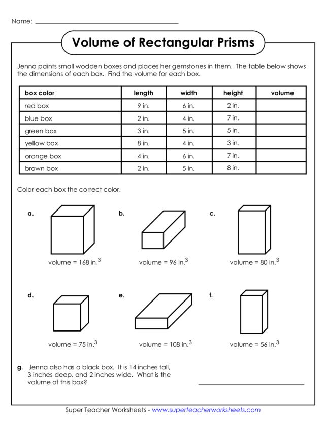 free math worksheets on volume of rectangular prism. Black Bedroom Furniture Sets. Home Design Ideas