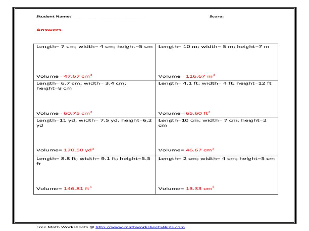 Uncategorized Volume Of Sphere Worksheet worksheet volume of a sphere queensammy worksheets for rectangular pyramid 10th grade lesson planet