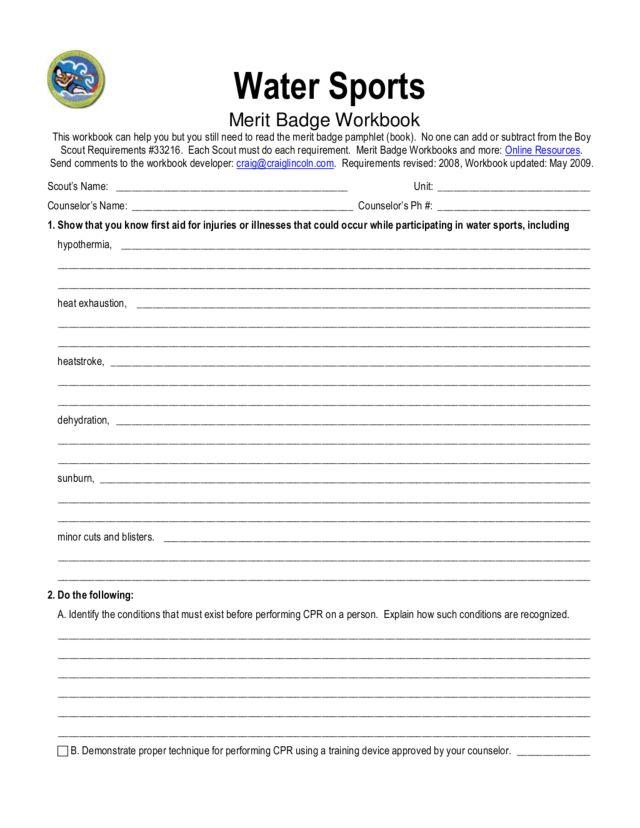 Snow Sports Merit Badge Worksheet Rringband – Sports Merit Badge Worksheet