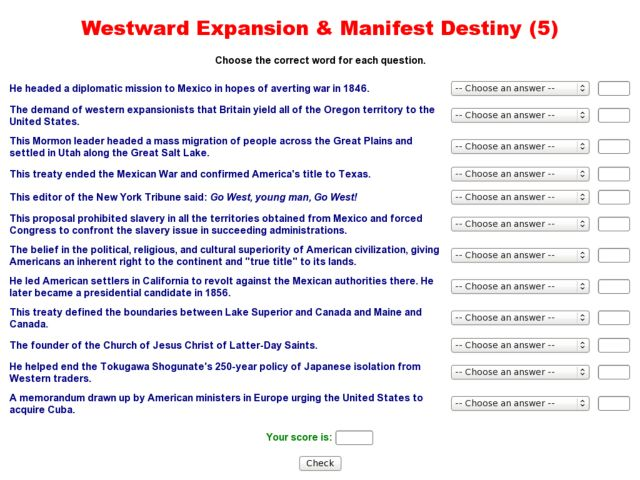 manifest destiny essay american westward expansion unit u s  top personal essay proofreading for hire gb csr sample cover westward expansion best of history web