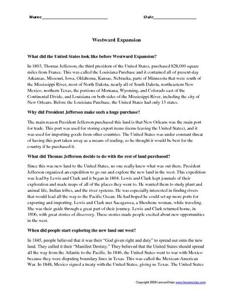 westward expansion worksheet worksheets releaseboard free printable worksheets and activities. Black Bedroom Furniture Sets. Home Design Ideas