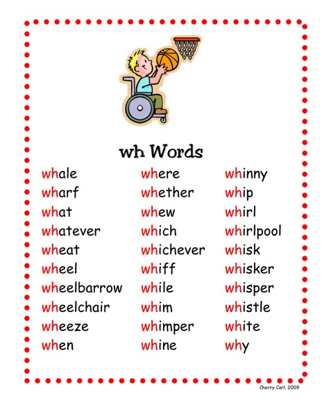 Image result for wh words grade 2