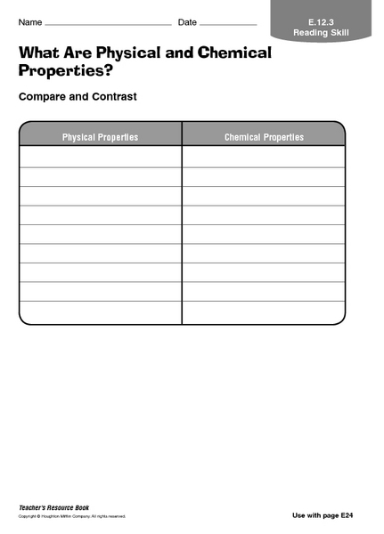 Worksheets Physical And Chemical Properties Worksheet 6th Grade what are physical and chemical properties 3rd 6th grade worksheet lesson planet
