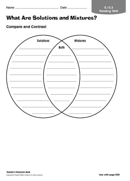 Worksheet Mixture Worksheet what are solutions and mixtures 3rd 6th grade worksheet lesson planet