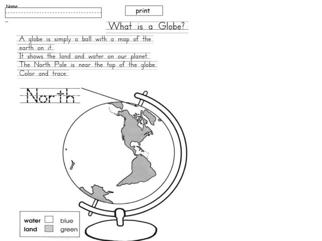 Map Skills: Map and Globe Cut and Paste Activity - Maps Globes ...