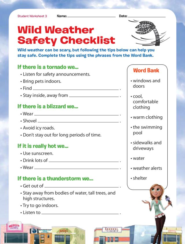 Safety first lesson plan